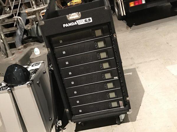 大型LEDディスプレイ用のUPS電源+安定化電源装置