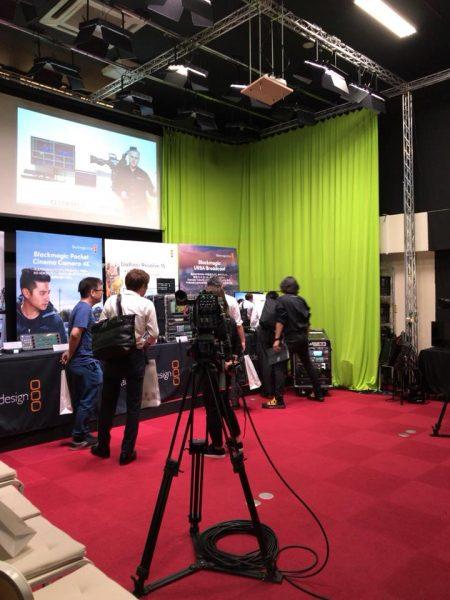 3Fスタジオで、URSA BroadCast、ATEM4MEを中心とした新製品を展示