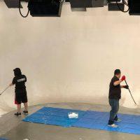 スタジオノ白ホリの塗装メンテナンス