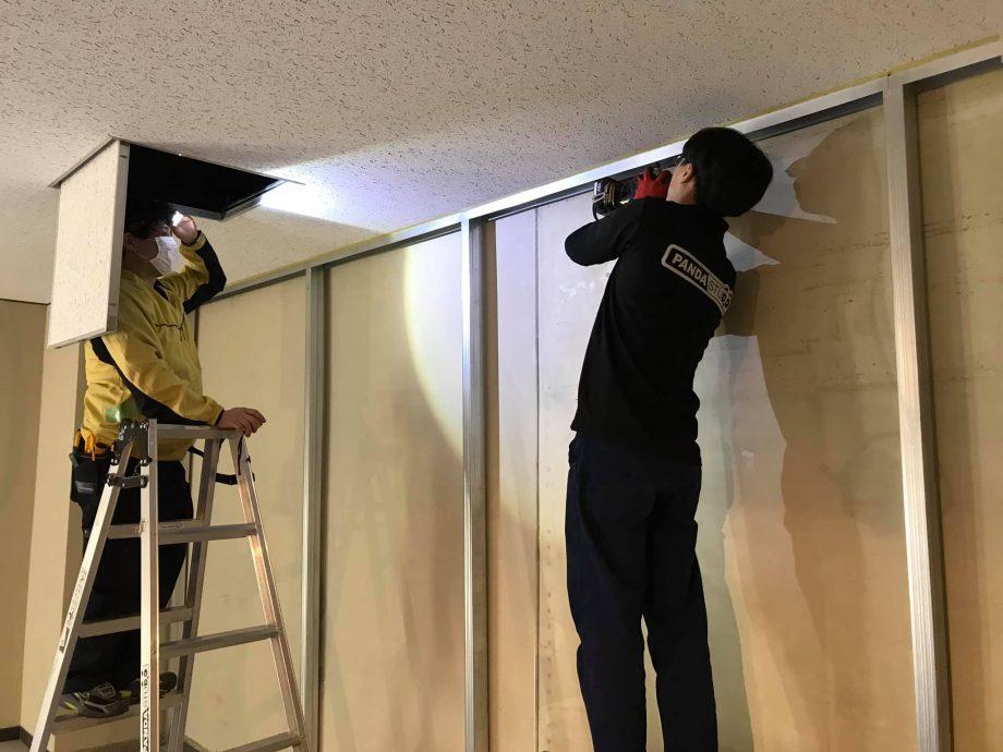 クロマキー用の壁面を構築